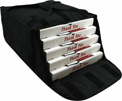 "Case of OvenHot Black Fabric Pizza Bag holds 4-5 16"" or 18"" Pizzas NEW"