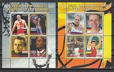 Benin 2008 Olympic Game Sports Althetes Flag Famous People Stamps MNH perforated
