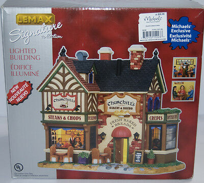 Lemax Christmas Village Collection Churchill's Bakery and Bistro # 15223 Holiday