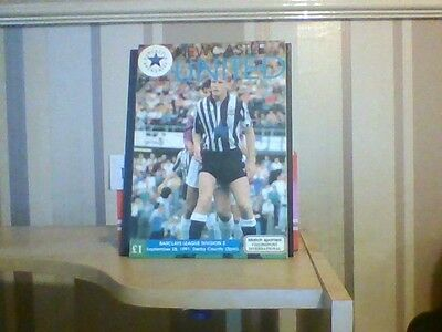 Newcastle united v Derby county official programme 1991