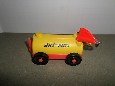 Vintage Fisher Price Little People Plastic Jet Fuel Airline Tanker Toy