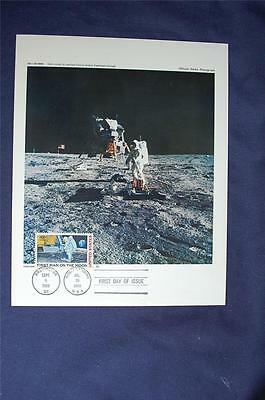 First Man on the Moon Stamp FDC NASA Photo Sc#C76 Aldrin Stands by Experiment