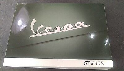 Original Piaggio / Vespa Gtv 125 4T User Manual 2008