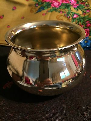 Japanese Kensui Brass Slop Bowl For Formal Tea Ceremony