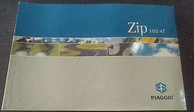 Original Piaggio Zip 100 4T User Manual 2003
