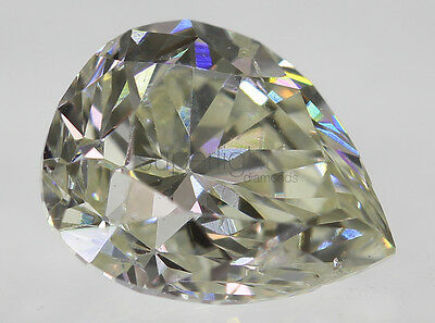 Certified 0.68 Carat I Color VS2 Pear Natural Loose Diamond 5.02x6.27mm VG VG