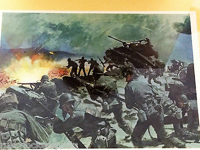 Breakthrough At Chipyong-Ni Us War Office Vintage Lithograph