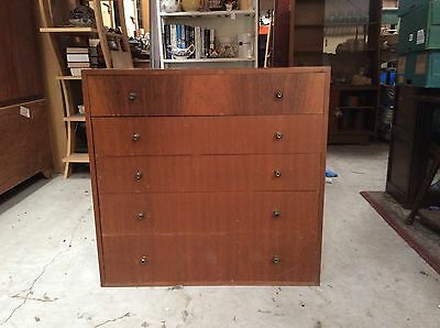 Vintage Retro Mid Century Chest of Drawers. Scandi Style. Bedside Cabinet Chest.