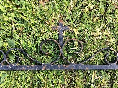 Antique Architectural Salvage Forged Iron Bracket Church. Religious Salvage Item