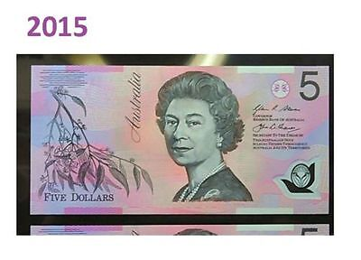 RARE 2015  $5 Note  With First Prefix  BA15 866 496 SLABED,STRICTLY UNCIRCULATED