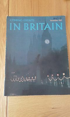 Vintage 1963 Coming Events In Britain Magazine