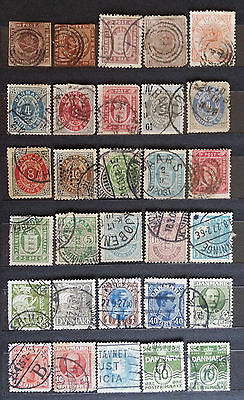NICE SCANDINAVIA DANMARK DENMARK OLD STAMPS - USED (2 pages)