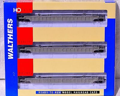 HO NIB RTR Walthers Undecorated NSC 3-Unit 53' Well Car Set