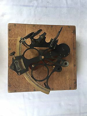 Heath Hezzanith Sextant with case, circa 1930, Endless Tangent Hughes London