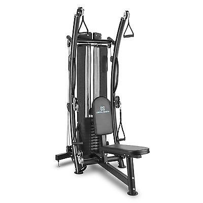 Multi Gym Home Machine Total Body Fitness Cable Training 10 Weight 150 Lbs Steel