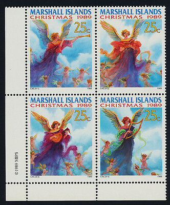Marshall Islands 344a BL Block MNH Christmas, Angels, Music, Musical Instruments