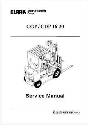 Clark CGP 16-20, CDP 16-20 Forklift Truck Service Manual (0234)