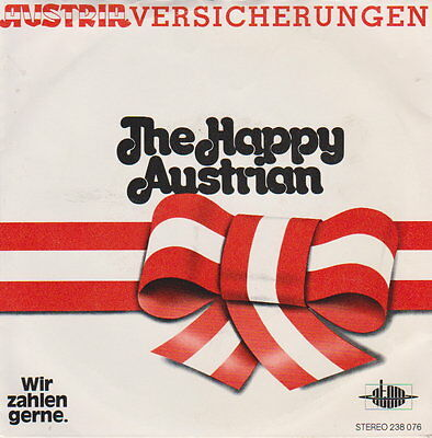 Oliver Music   ‎– Happy Austrian  - 45 RpM Vinyl Single - Austropop