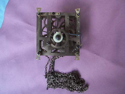 Antique unmarked Cuckoo clock pinned movement  with chains