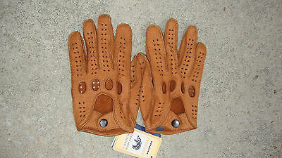 WORN ONCE - Men's Peccary Leather Driving Gloves 8 1/2