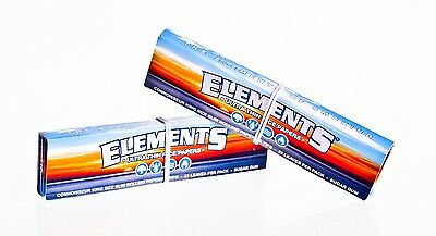Elements Rolling Papers Ultra Thin Rice Skins Rizla King Size 1,2,3,4,5,10,25,50
