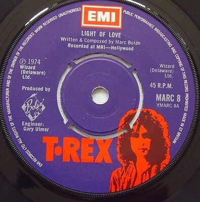 T. Rex - Light Of Love / Explosive Mouth - 1974 T. REX (EX)