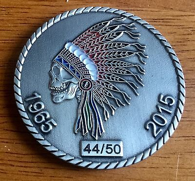 Native American Indian Grateful Dead Skull Challenge Coin 44/50