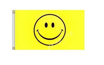 Smiley Face Flag 3x5 FT 100D Polyester Flag Brass Grommets Free Shipping