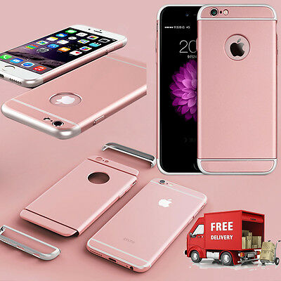 Luxury Ultra-thin Shockproof Back Case Cover for Apple iPhone 6/6s Rose Gold(56