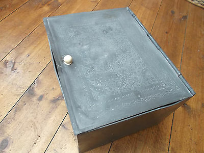Antique, chinese, pewter tea box 1800's