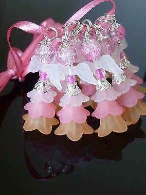 10 FAIRIES,ANGELS-Christening/New Baby/Occasions,charms 42mm,pink,Kid's Party
