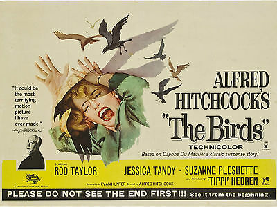 """The Birds 1963 16"""" x 12"""" Reproduction Movie Poster Photograph"""