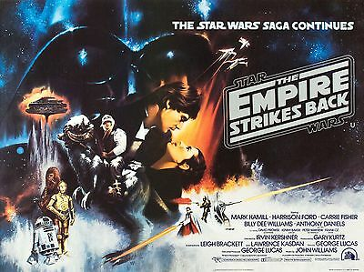 "The Empire strikes back 16"" x 12"" Reproduction Movie Poster Photograph"