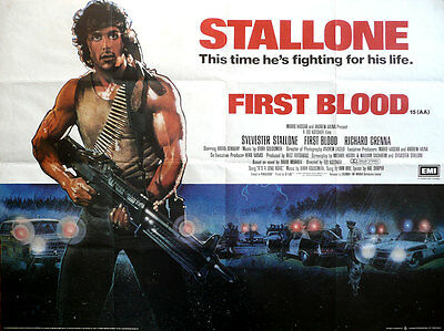 "First Blood 16"" x 12"" Reproduction Movie Poster Photograph"