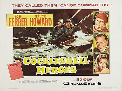"""The Cockleshell heroes 16"""" x 12"""" Reproduction Movie Poster Photograph"""