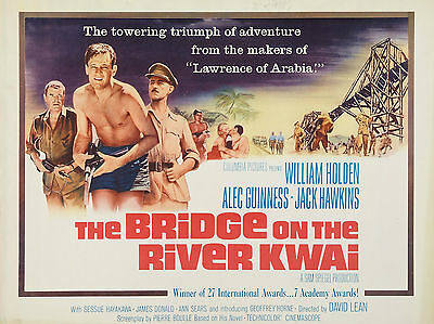 """Bridge on the River Kwai 1957 16"""" x 12"""" Reproduction Movie Poster Photograph"""