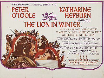 """The Lion in Winter 16"""" x 12"""" Reproduction Movie Poster Photograph"""