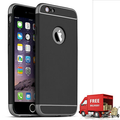 Luxury Ultra-thin Shockproof Back Case Cover for Apple iPhone 6/6s BLACK(63