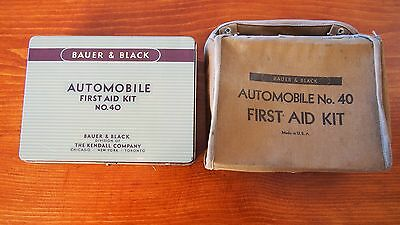 Vintage Bauer & Black No.40 First Aid Kit note: WITH CLOTH BAG