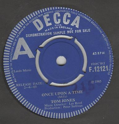 Tom Jones Once upon a time Decca F.12121 EX Demo