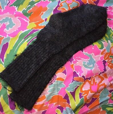 Vintage Soft Fluffy Wispy Whipsy Socks Gray Cushy Cozy Acrylic? Squishy Thick