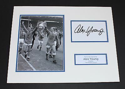 Alex Young Everton Golden Vision HAND SIGNED Autograph Photo Mount Display COA