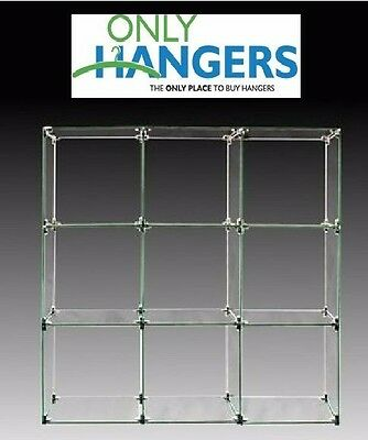 """Only Hangers 9 Cube Glass Display Unit - 14"""" x 14"""" Glass"""