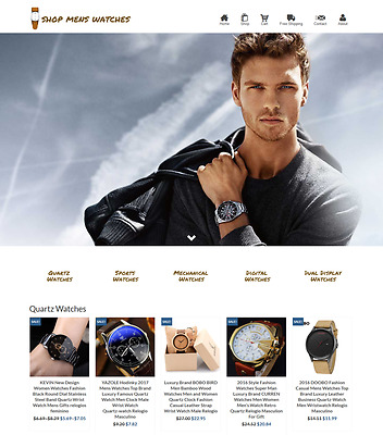 Dropshipping Men's Watches eCommerce Website Business Ready to Go