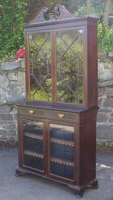 ### Late Victorian Chinese Chippendale Style Bookcase - James Shoolbred ###