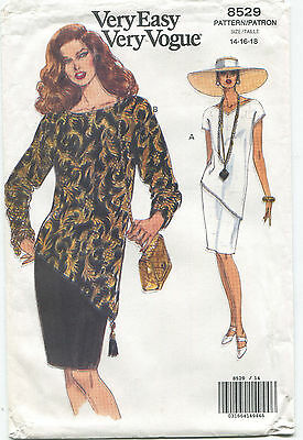 Vogue 8529 Misses Easy Top & Skirt Sewing Pattern ~ Size 14 16 18  Uncut