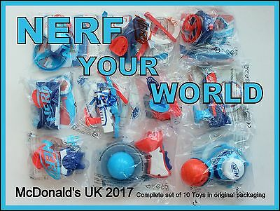 McDonald's Happy Meal toys 2017 NERF YOUR WORLD Complete set of 10 new in bags