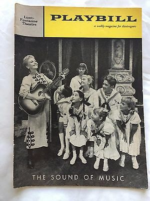 The Sound of Music-Mary Martin/Theodore Bikel- May 1960 Playbill and ticket stub