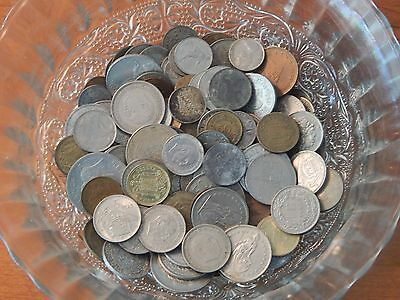 World Coin Lot VALUABLE World War Two Occupied OLD coins Grandpa Junk Drawer