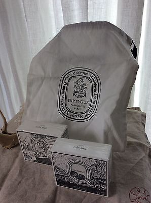 Diptyques 2 soap bars/ Fig& DoSon with gift bag set,NEW